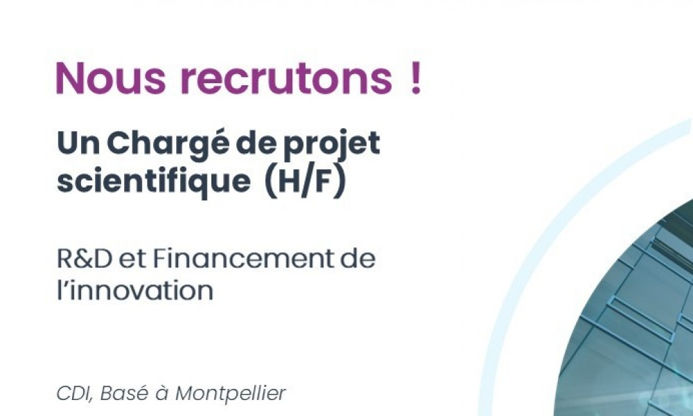 [NEW] Offre d'emploi - Chargé de projet scientifique R&D et financement de l'innovation (H/F)