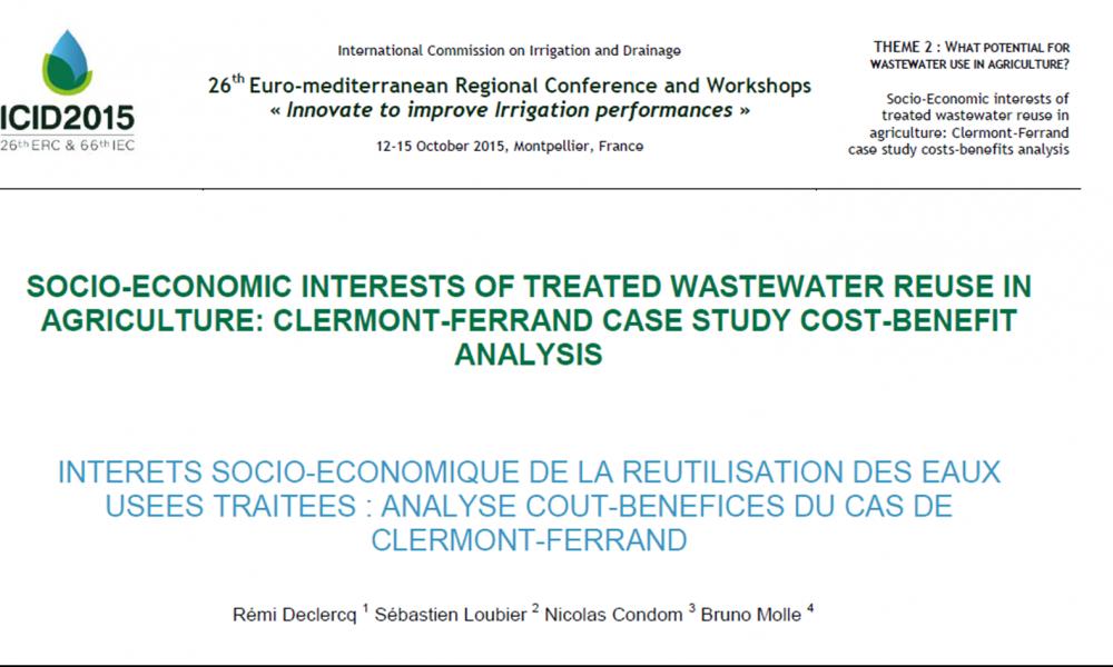 Ecofilae publie un article scientifique sur l'Analyse Coûts-Bénéfices de projet de réutilisation des eaux