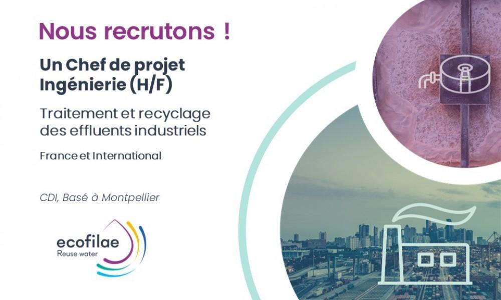 [NEW] Offre d'emploi - Chef de projets Ingénierie (H/F) Traitement et recyclage des effluents industriels